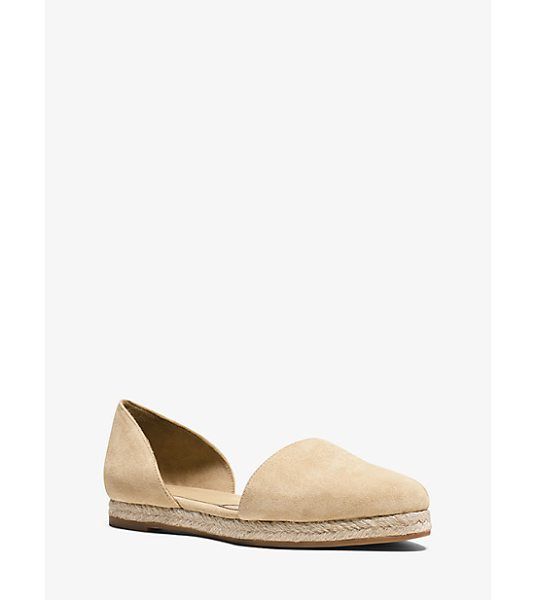 Michael Kors Collection Corey Suede Flat in natural - Exquisitely Crafted From Rich Suede Our Corey Flats Are...