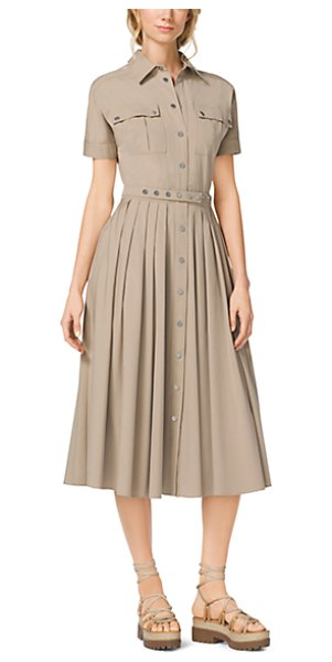 Michael Kors Collection Cotton-poplin shirtdress - Our cotton-poplin shirtdress flaunts sophisticated...