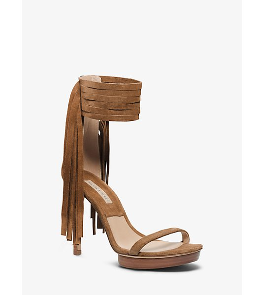 Michael Kors Collection Daphne Suede Sandal in brown