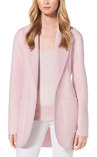 Michael Kors Collection Double-Face Cashgora Bathrobe Jacket in pink - A Genuine Blushing Beauty. We Took The Bathrobe And...