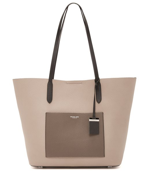 MICHAEL KORS COLLECTION Eleanor tote in dark taupe - A large Michael Kors Collection tote in sophisticated...