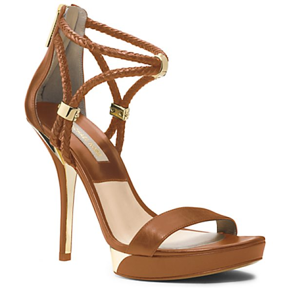 Michael Kors Collection Fariha Leather Platform Sandal in brown - For Spring I Wanted To Play With The Idea Of Blending...