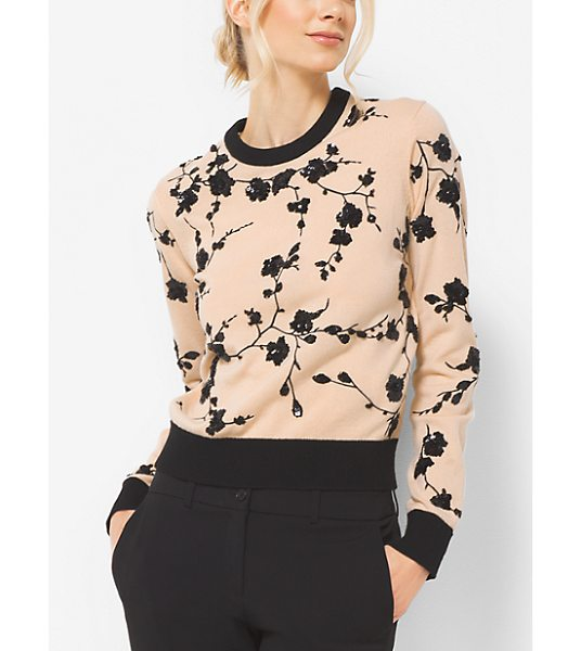 MICHAEL KORS COLLECTION Floral-Embroidered Cashmere Sweater - Finely Knitted From Soft Cashmere This Sweater Is...