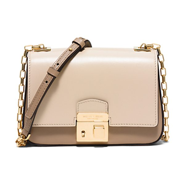 Michael Kors Collection Gia Small Leather Crossbody in natural - The Chic Compact Silhouette Of The Gia Bag Is A Perfect...