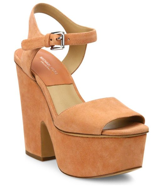Michael Kors Collection Harley suede platform sandals in terra