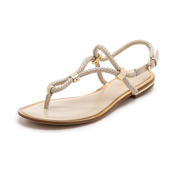 Michael Kors Collection Hartley flat sandals in vanilla