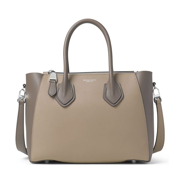 MICHAEL KORS Helena small leather satchel bag - Michael Kors Collection colorblock leather satchel bag....