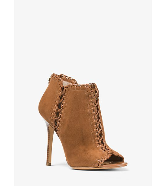Michael Kors Collection Henley Suede And Leather Pump in brown - Crafted In Italy From Suede And Woven Leather Our Henley...