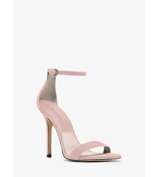 Michael Kors Collection Jacqueline Suede Sandal in pink - Our Jacqueline Sandals Balance Simplicity With...
