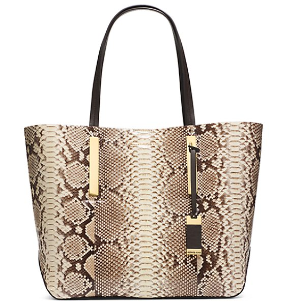 Michael Kors Collection Jaryn Large Python Tote in natural - Jaryn Large Python Tote