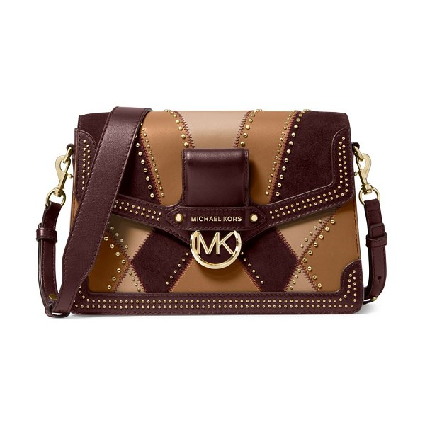 Michael Kors Collection jessie patchwork shoulder bag in neutral