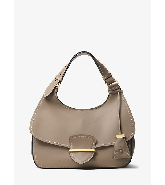 MICHAEL KORS COLLECTION Josie Large French Calf Leather Shoulder Bag in brown - French Calf Leather Craftsmanship And Minimal Hardware...
