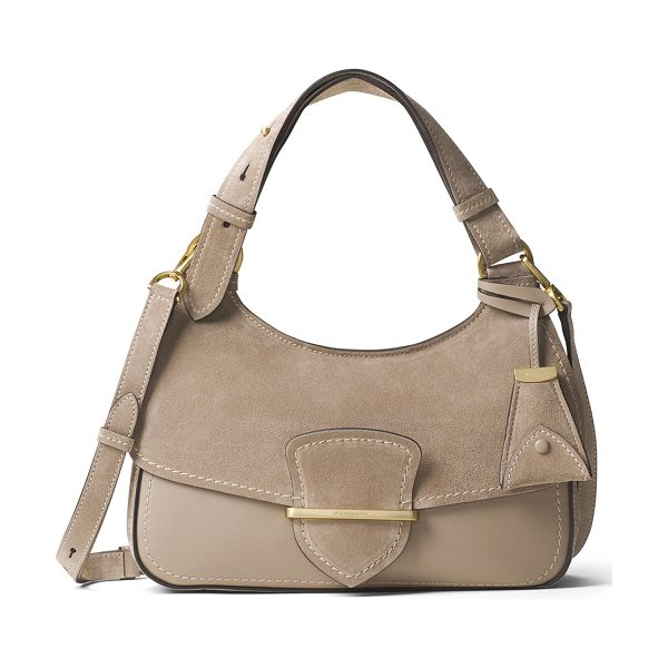 MICHAEL KORS COLLECTION Josie Medium Suede & Leather Shoulder Bag - Michael Kors Collection leather and suede shoulder bag....