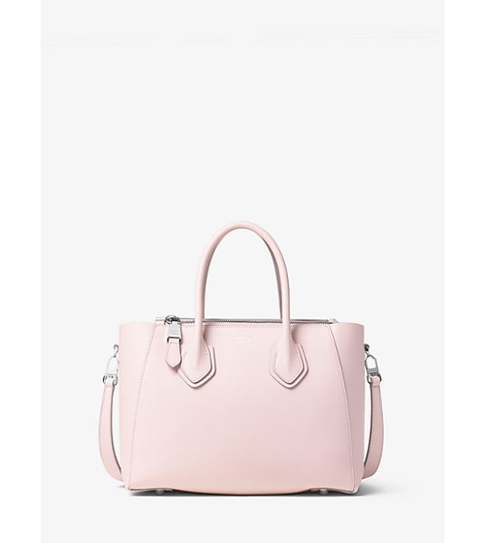 MICHAEL KORS COLLECTION Helena Small French Calf Leather Satchel - A Study In Sleek Steadfast Style The Helena Satchel Is...