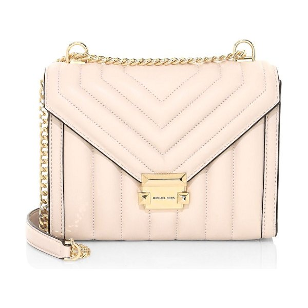 Michael Kors Collection large whitney quilted leather shoulder bag in soft pink