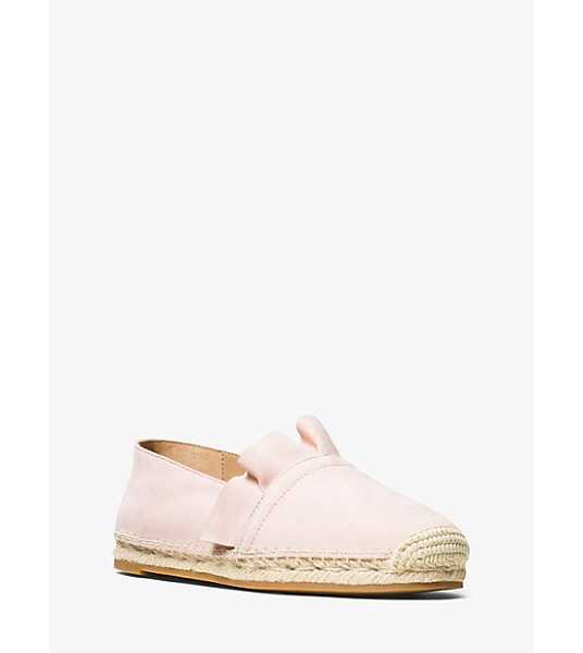 Michael Kors Collection Laticia Suede Espadrille in pink - Rendered In Luxe Suede With Jute Trim And Delicate...