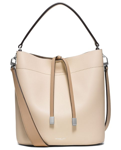 Michael Kors Collection Miranda medium leather shoulder bag in vanilla/dune - Michael Kors Collection medium shoulder bag in leather....