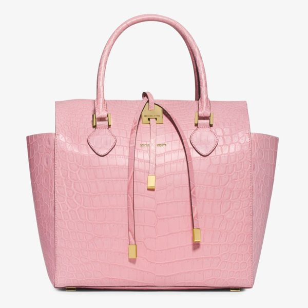 Michael Kors Collection Miranda Crocodile Large Tote in pink - Exotic. Elegant. Efficient. Meet The New...