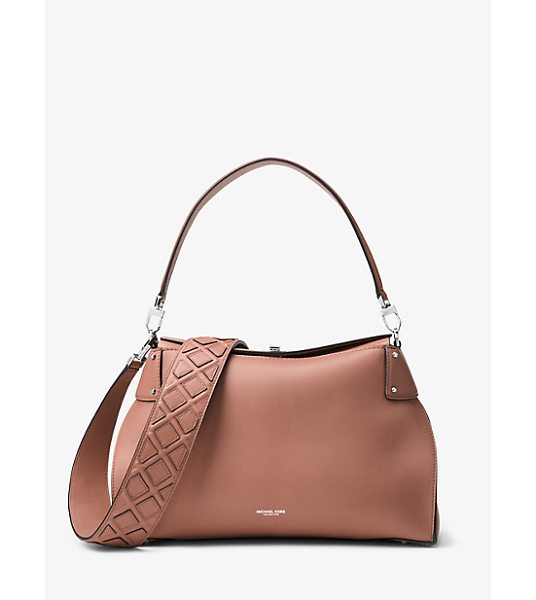 MICHAEL KORS COLLECTION Miranda Large French Calf Leather Shoulder Bag - Miranda Takes A Modern Turn For The Season Designed In A...