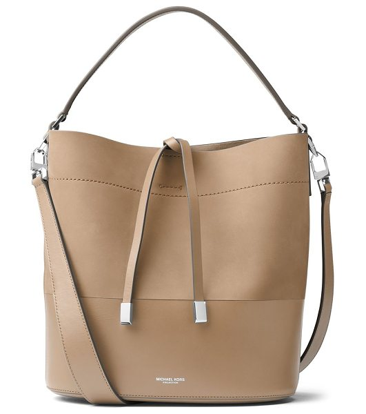 Michael Kors Collection miranda medium leather bucket bag in dune