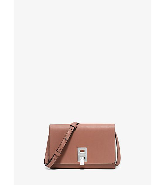 MICHAEL KORS COLLECTION Miranda Medium Leather Crossbody in natural - Impeccably Crafted From Opulent French Calfskin And...