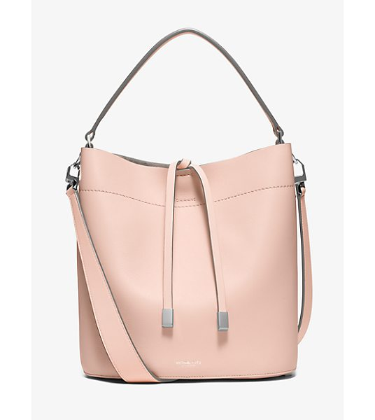 Michael Kors Collection Miranda Medium Leather Shoulder Bag in pink - This Season We've Reinvented Our Miranda In A Spacious...