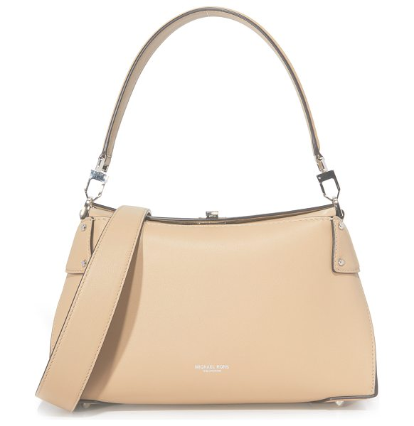 Michael Kors Collection miranda top lock shoulder bag in dune - A sophisticated Michael Kors Collection handbag in a...