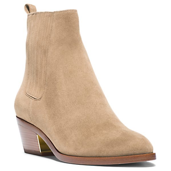 MICHAEL KORS COLLECTION Patrice suede ankle boot - I love the look of balancing softer romantic pieces with...