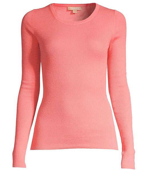 Michael Kors Collection ribbed cashmere sweater in petal