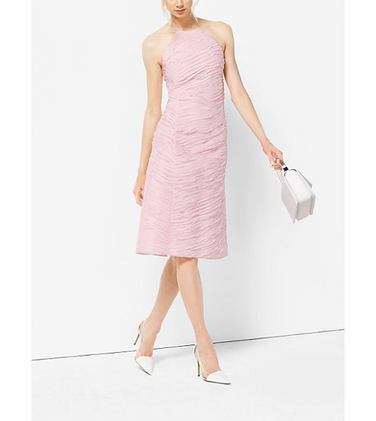 Michael Kors Collection Ribbon-Embroidered Organza Dress in pink - Ribbon Embroidery Lends Rich Texture To This Feminine...