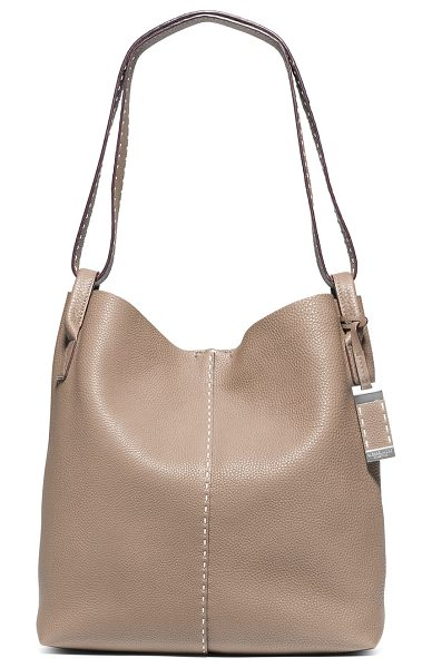 Michael Kors Collection Rogers Large Slouchy Hobo Bag in luggage - Michael Kors Collection grained calfskin hobo bag....