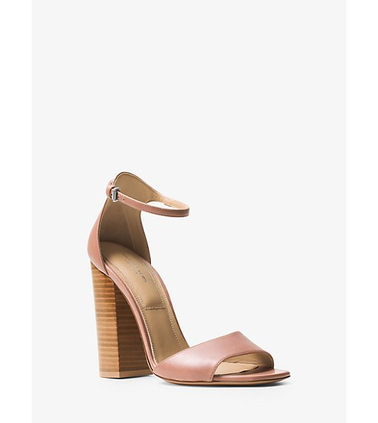 Michael Kors Collection Rosa Leather Sandal in natural - Our Rosa Sandals Are Handcrafted In Italy From The...