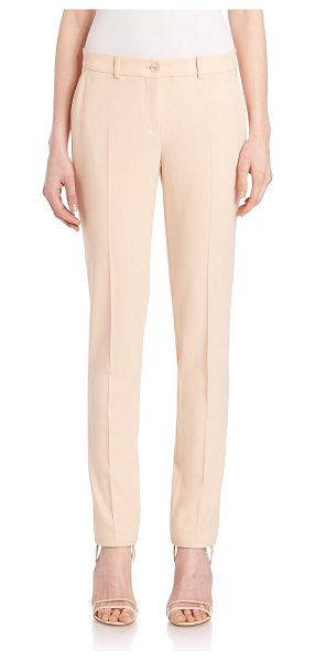MICHAEL KORS COLLECTION samantha virgin wool pants - Streamlined trouser cast in rich virgin wool. Belt...