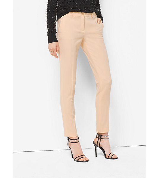 Michael Kors Collection Samantha Wool-Serge Skinny Pants in natural - Michael's Signature Samantha Pants Are A Timeless...