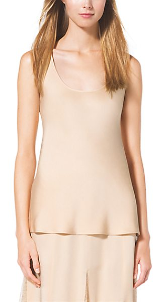 Michael Kors Collection Satin Charmeuse Tank in natural - Every Well-Edited Wardrobe Needs Luxe Layering Pieces...