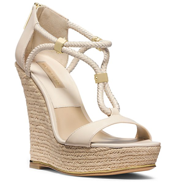 Michael Kors Collection Sherie Braided Leather Espadrille Wedge in natural - Say Hello To Sherie A Stylish Study In Converging...