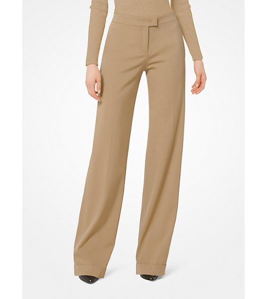 MICHAEL KORS COLLECTION Stretch-Wool Trousers - These Timeless Stretch-Wool Trousers Feature A Wide-Leg...