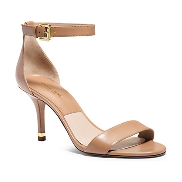Michael Kors Collection Suri Leather Sandal in brown - Our Suri Sandal Captures The Essence Of Ladylike Luxury....