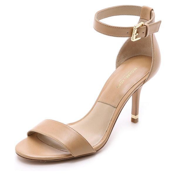 Michael Kors Collection Suri single band sandals in toffee - Michael Kors Collection leather sandals in a versatile...