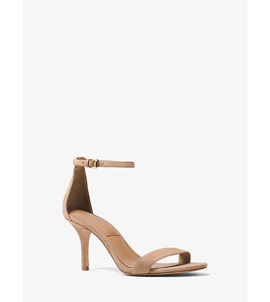 Michael Kors Collection Suri Suede Sandal in natural - Our Suri Sandals Are Minimal In Design And Effortlessly...