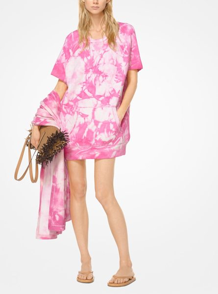 MICHAEL KORS COLLECTION Tie-Dye Cashmere Sweatshirt in pink - I Wanted This Season's Clothes To Be Able To Span...