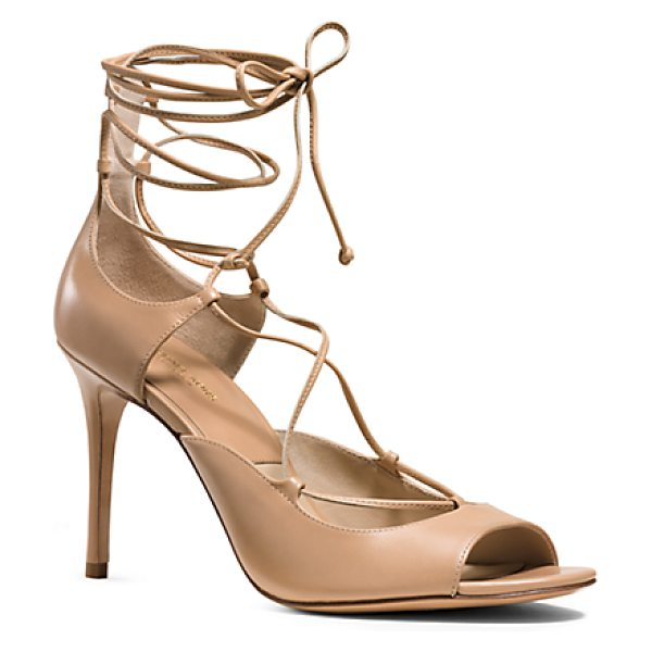 Michael Kors Collection Valerie Leather Sandal in brown - Crafted From The Finest Calfskin Our Valerie Sandals...