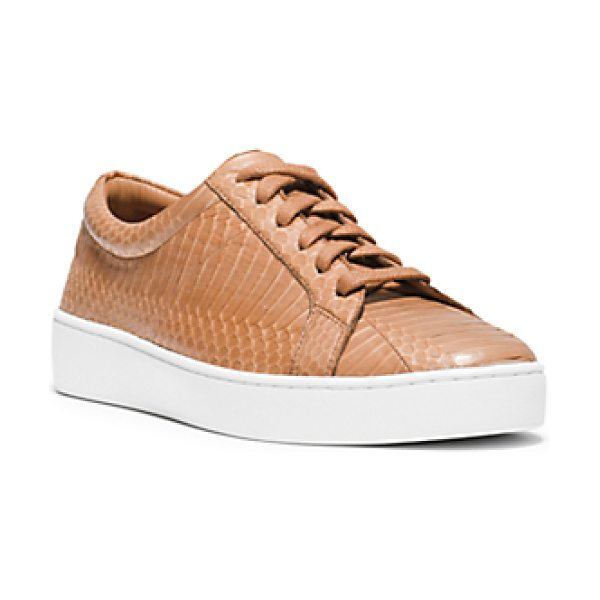 Michael Kors Collection Valin Snakeskin Sneaker in natural - Sneakers Have Never Looked So Chic. Crafted In A...