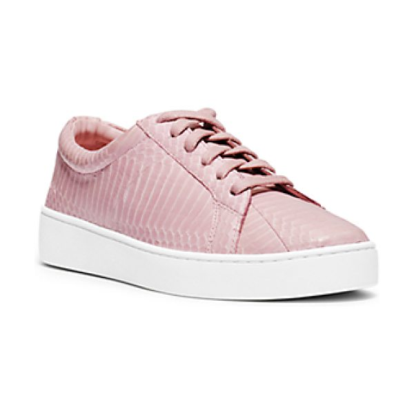 MICHAEL KORS COLLECTION Valin Snakeskin Sneaker - Sneakers Have Never Looked So Chic. Crafted In A...
