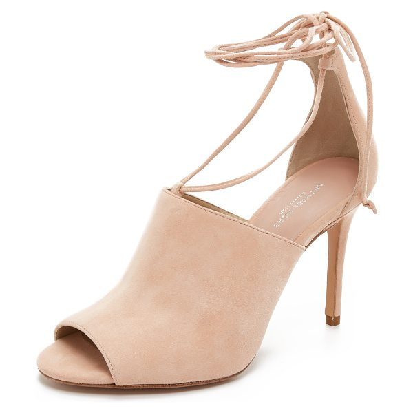 Michael Kors Collection Venice wrap sandals in cipria - Smooth suede composes these sophisticated Michael Kors...