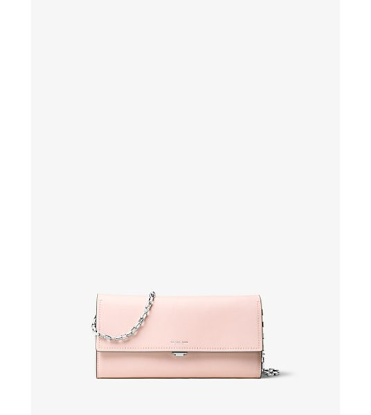 Michael Kors Collection Yasmeen Large French Calf Leather Clutch in pink - Clean Lines And French Calf Leather Combine For An...