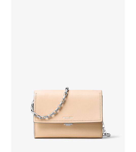 MICHAEL KORS COLLECTION Yasmeen Small Leather Clutch - Clean Lines And Butter-Soft Leather Combine For An...
