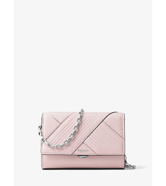 MICHAEL KORS COLLECTION Yasmeen Small Quilted-Leather Clutch - Clean Lines And Quilted French Calf Leather Combine For...