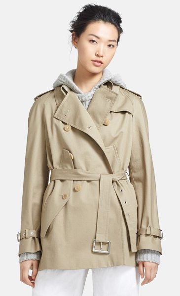 Michael Kors convertible cape trench jacket in sand - Traditional trench styling informs an ultra-versatile...