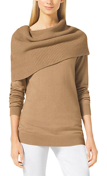 MICHAEL KORS Cowl-Neck Sweater - Enveloped By A Chic Oversized Cowl Neck This Cozy...